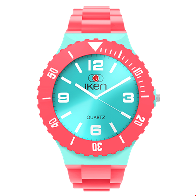 Picture of Coral and Aquamarine Complete Watch