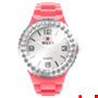 Picture of Coral and White Complete Watch with White Crystal Bezel