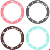 Picture of Coral, Grey, Chocolate and Aquamarine Bezel PrePack
