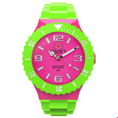 Picture of Green and Pink Sport Complete Watch