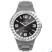 Picture of Grey and Black Complete Watch with White Crystal Bezel