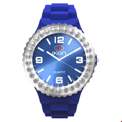Picture of Navy Complete Watch with White Crystal Bezel