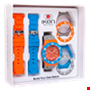 Picture of Orange, Light Blue and Grey Gift Box
