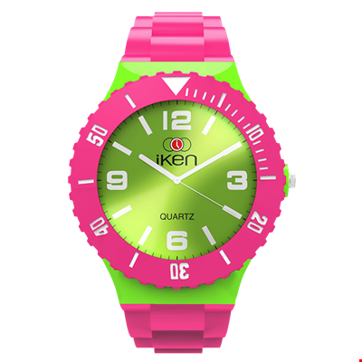 Picture of Pink and Green Complete Watch