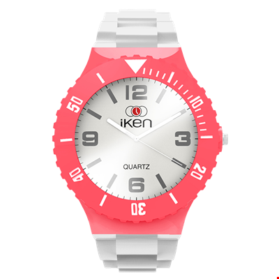 Picture of White and Coral Complete Watch
