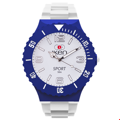 Picture of White and Navy Sport Complete Watch