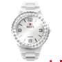 Picture of White Complete Watch with White Crystal Bezel