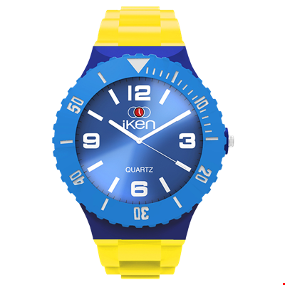 Picture of Yellow, Navy and Light Blue Complete Watch