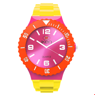 Picture of Yellow, Pink and Orange Complete Watch